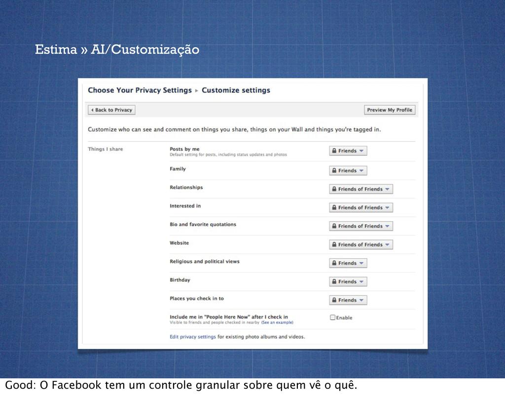 Estima » AI/Customização Good: O Facebook tem u...