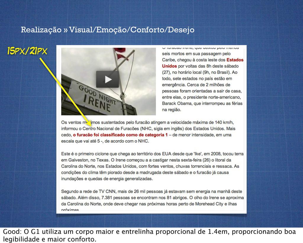 Realização » Visual/Emoção/Conforto/Desejo 15px...