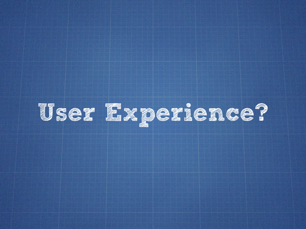 User Experience?