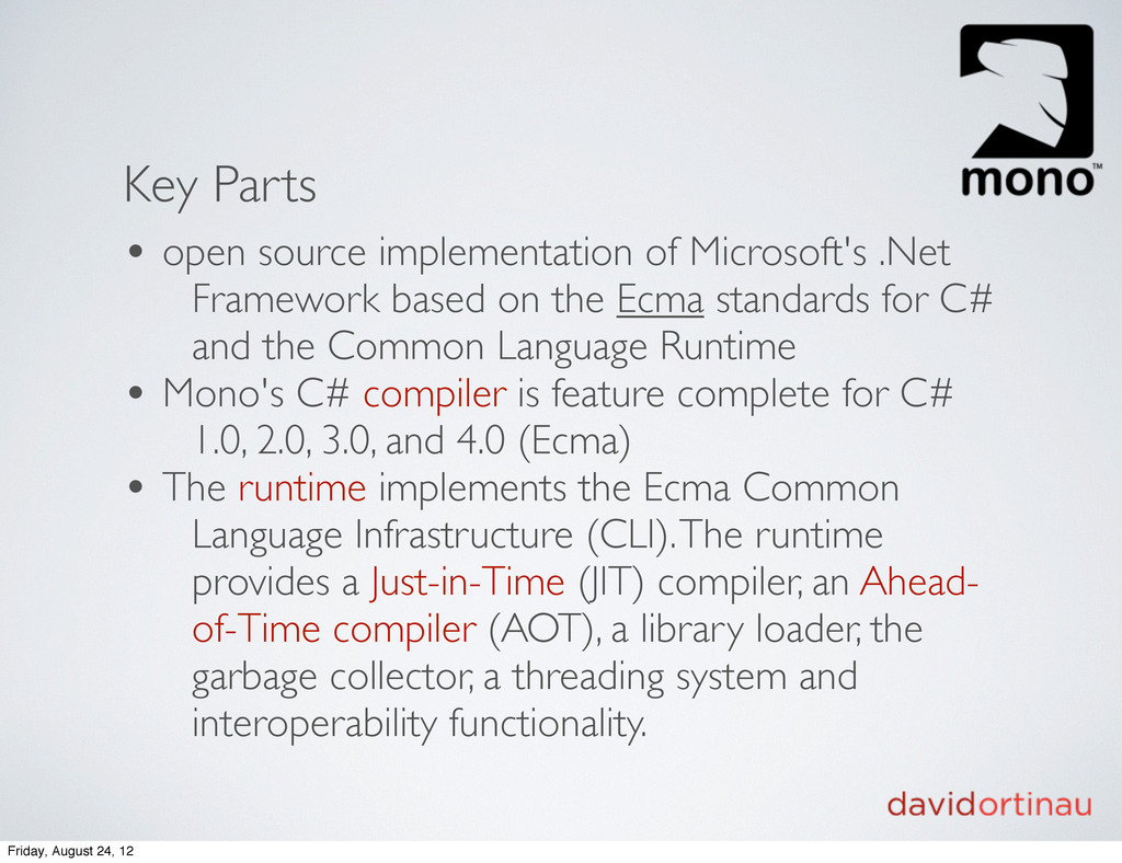 Key Parts • open source implementation of Micro...