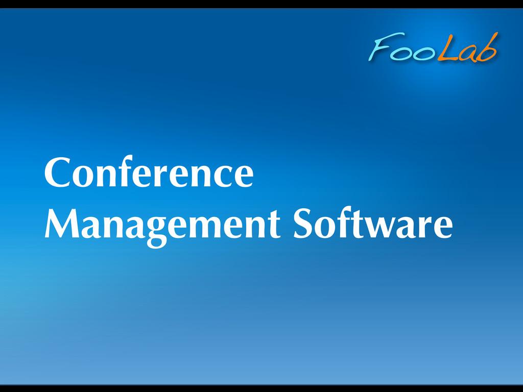 FooLab Conference Management Software