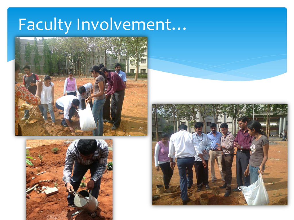 Faculty Involvement…