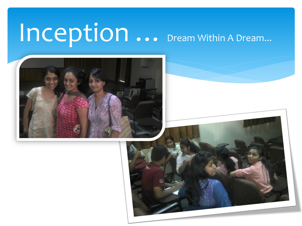 Inception … Dream Within A Dream...