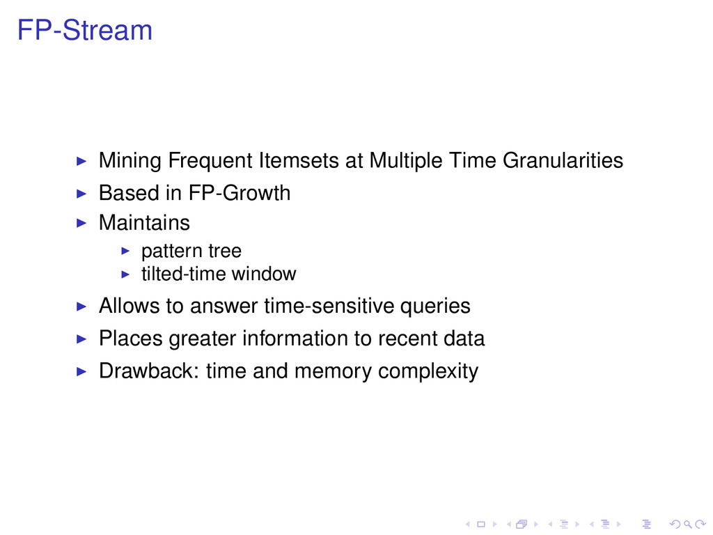 FP-Stream Mining Frequent Itemsets at Multiple ...