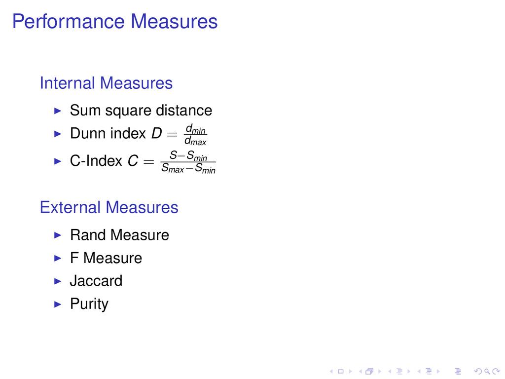 Performance Measures Internal Measures Sum squa...
