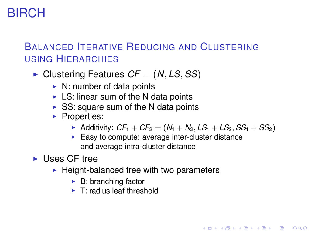 BIRCH BALANCED ITERATIVE REDUCING AND CLUSTERIN...