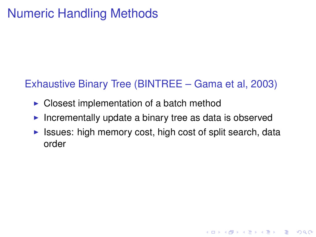 Numeric Handling Methods Exhaustive Binary Tree...
