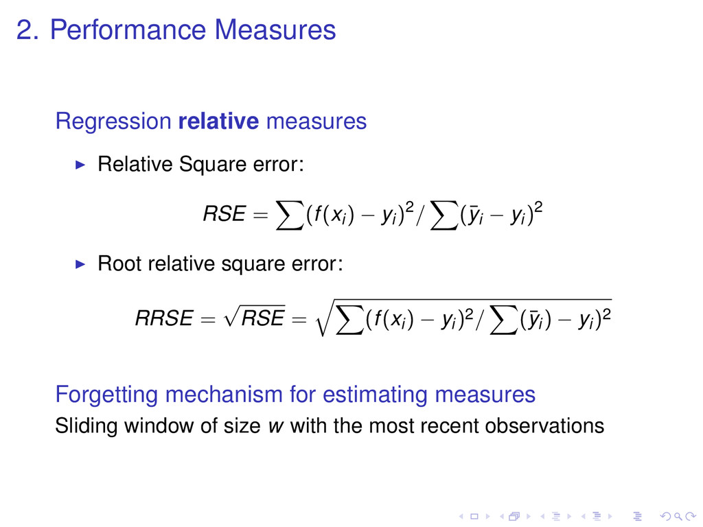 2. Performance Measures Regression relative mea...