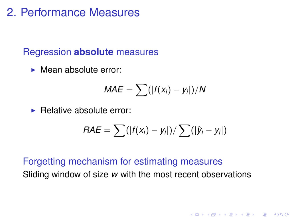 2. Performance Measures Regression absolute mea...