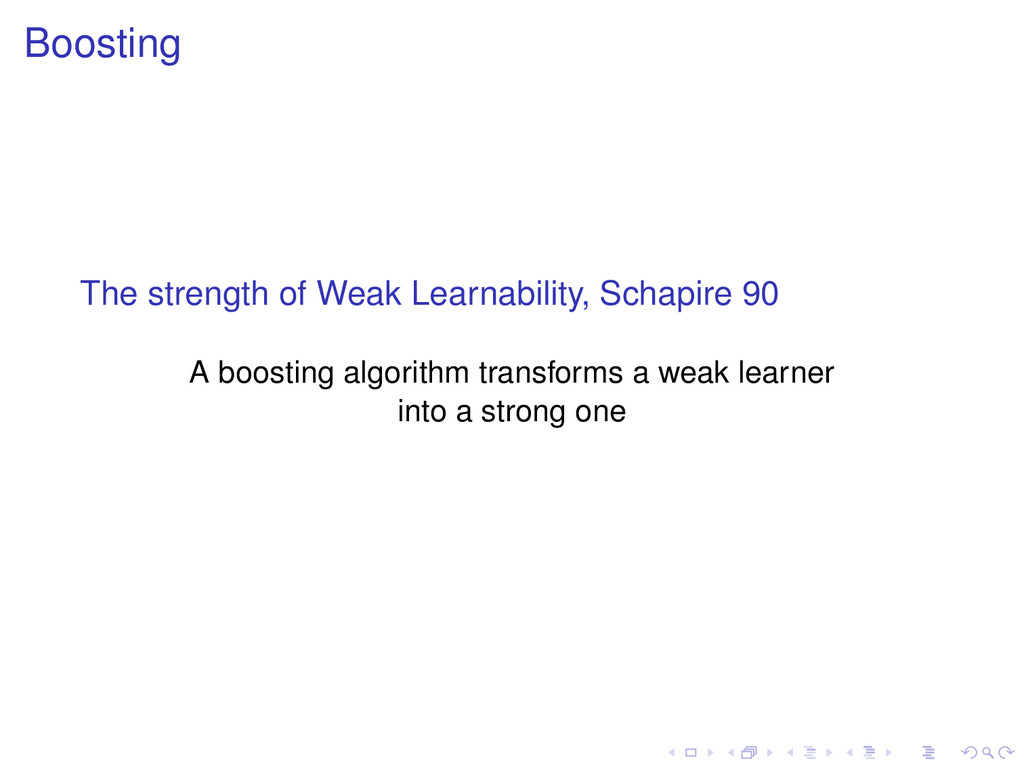 Boosting The strength of Weak Learnability, Sch...