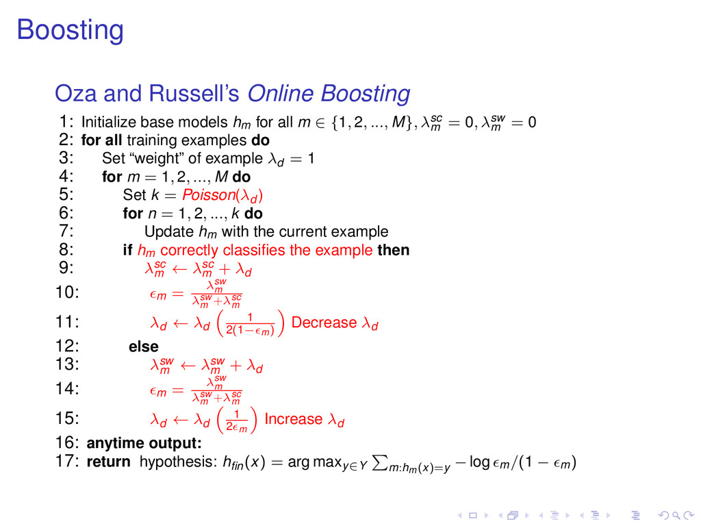 Boosting Oza and Russell's Online Boosting 1: I...