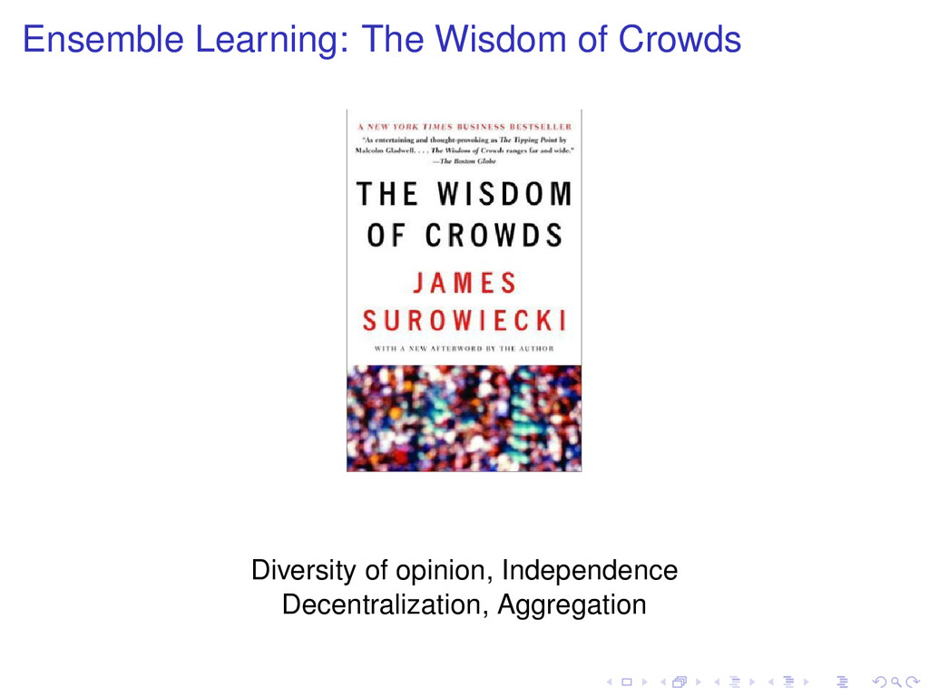 Ensemble Learning: The Wisdom of Crowds Diversi...