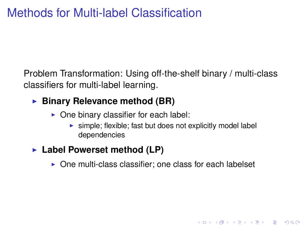 Methods for Multi-label Classification Problem T...