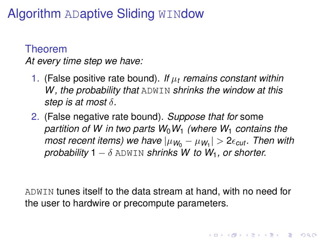 Algorithm ADaptive Sliding WINdow Theorem At ev...