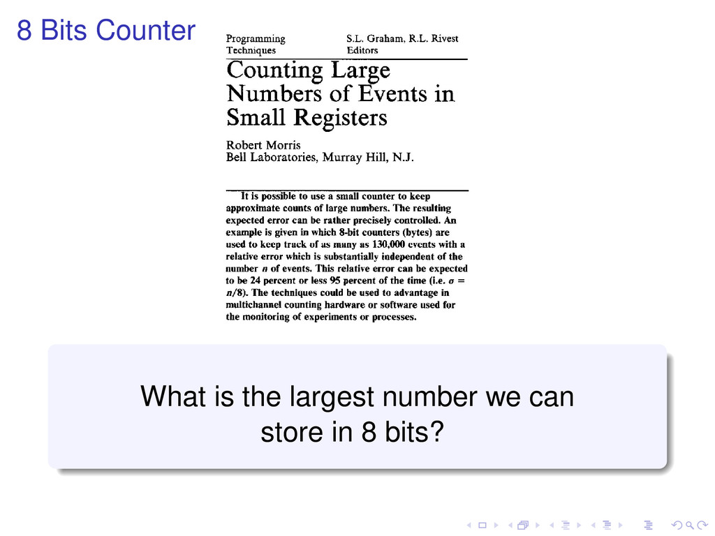 8 Bits Counter What is the largest number we ca...