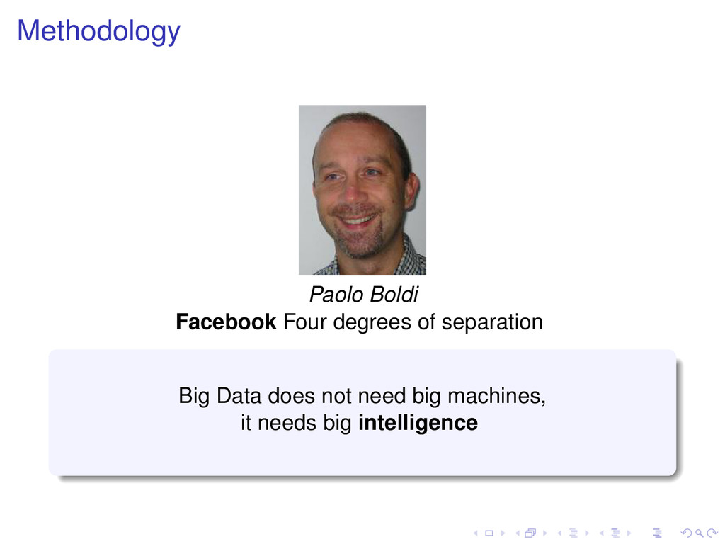 Methodology Paolo Boldi Facebook Four degrees o...