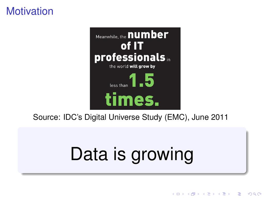 Motivation Source: IDC's Digital Universe Study...