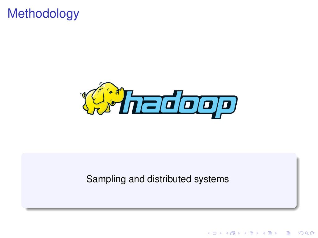 Methodology Sampling and distributed systems