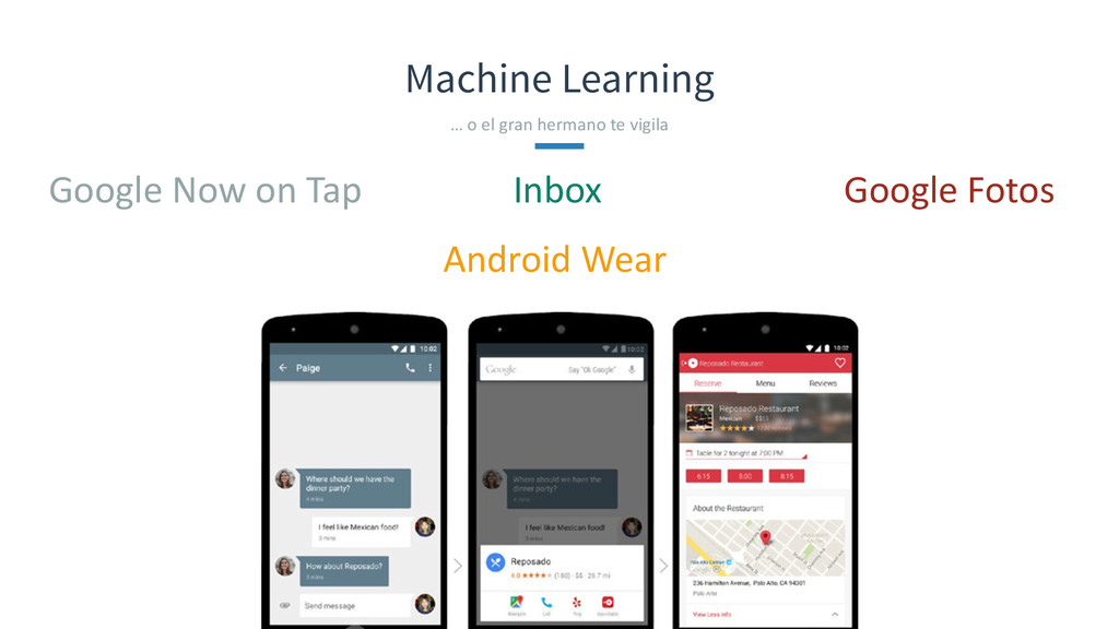 Machine Learning Google Now on Tap …...