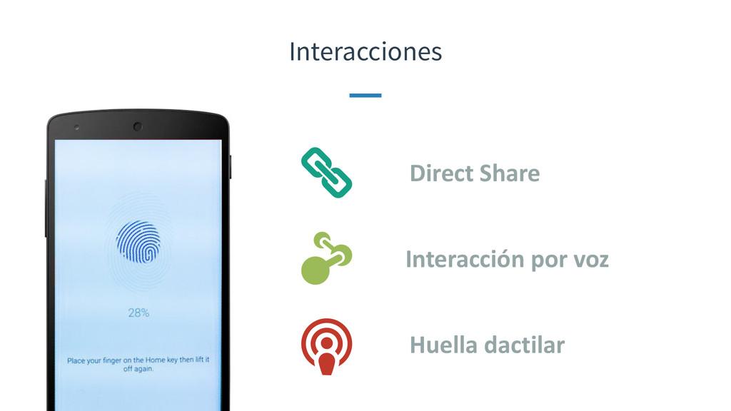 Interacciones Direct Share Interacción po...