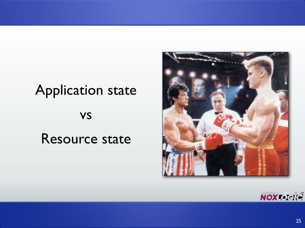 25 Application state vs Resource state