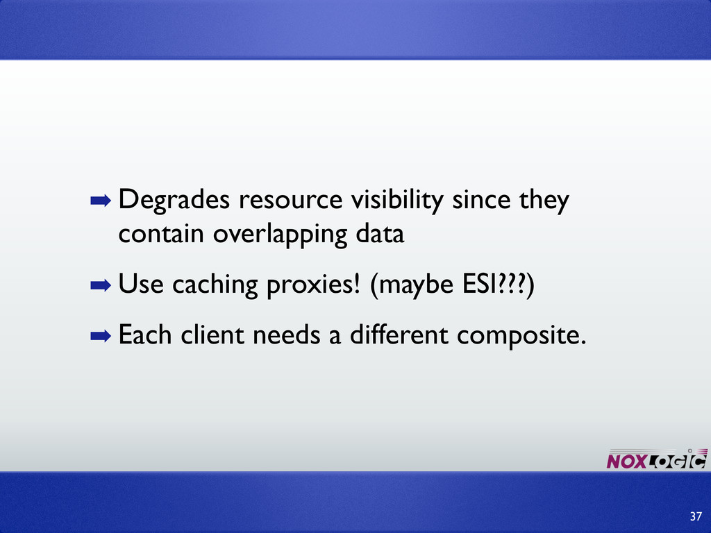 ➡ Degrades resource visibility since they conta...