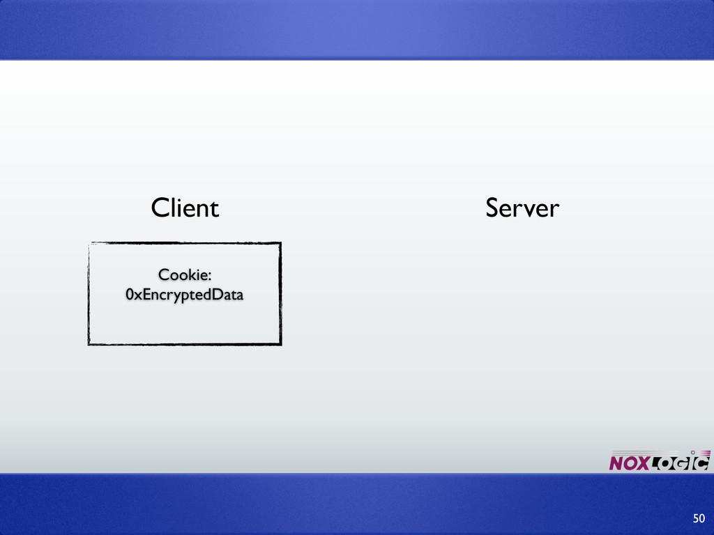 50 Cookie: 0xEncryptedData Client Server