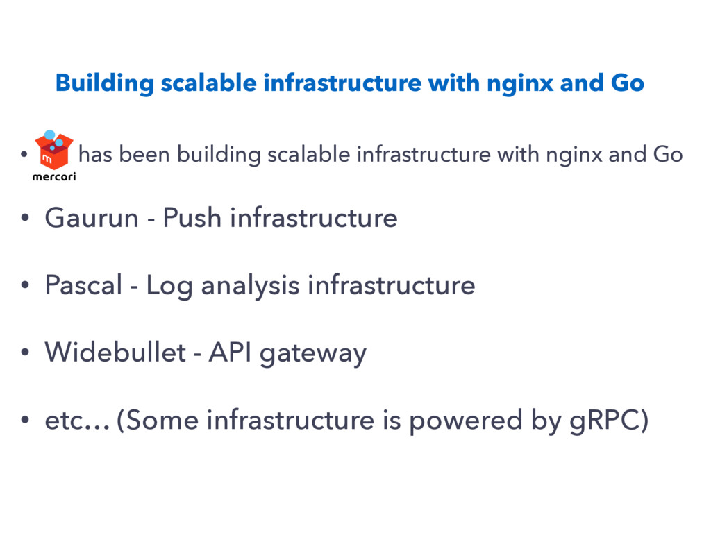 Building scalable infrastructure with nginx and...