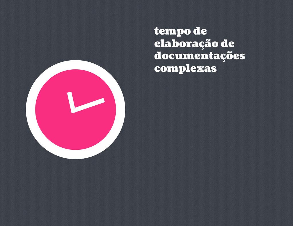 tempo de elaboração de documentações complexas