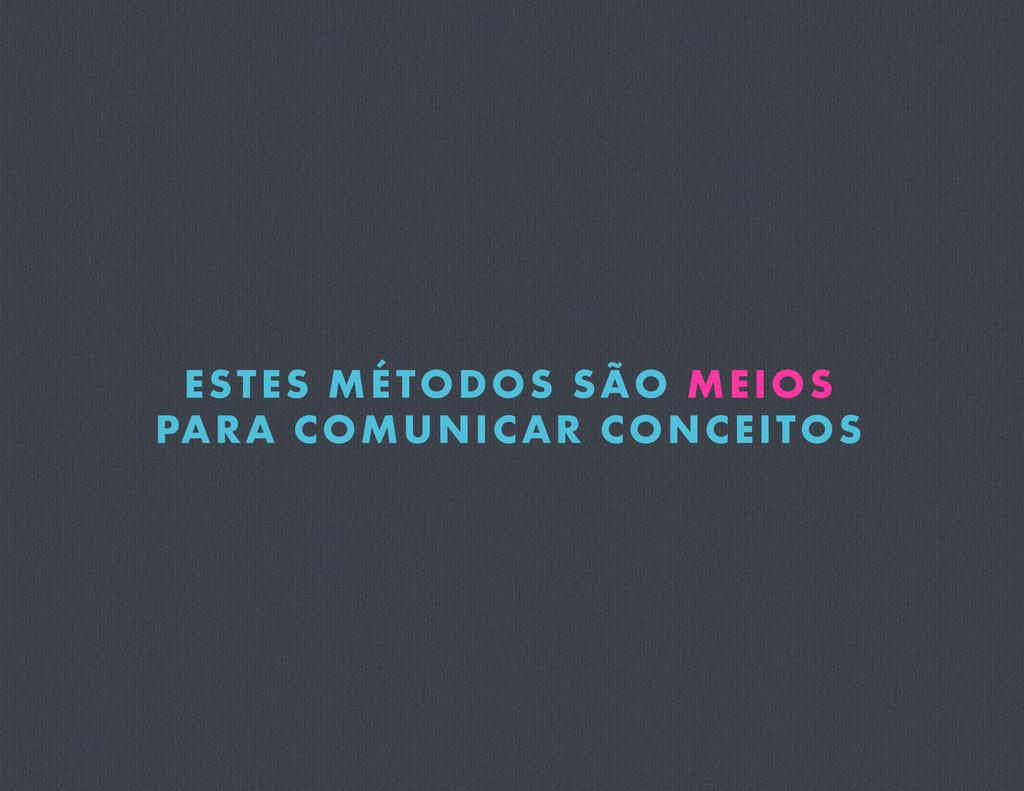 ESTES MÉTODOS SÃO MEIOS PARA COMUNICAR CONCEITOS