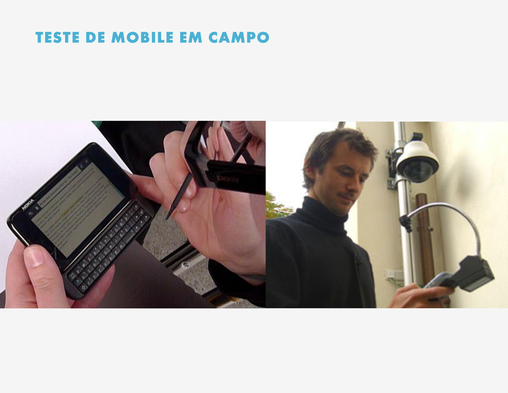 TESTE DE MOBILE EM CAMPO