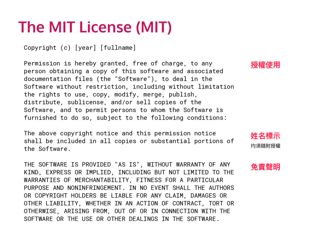 The MIT License (MIT) Copyright (c) [year] [ful...