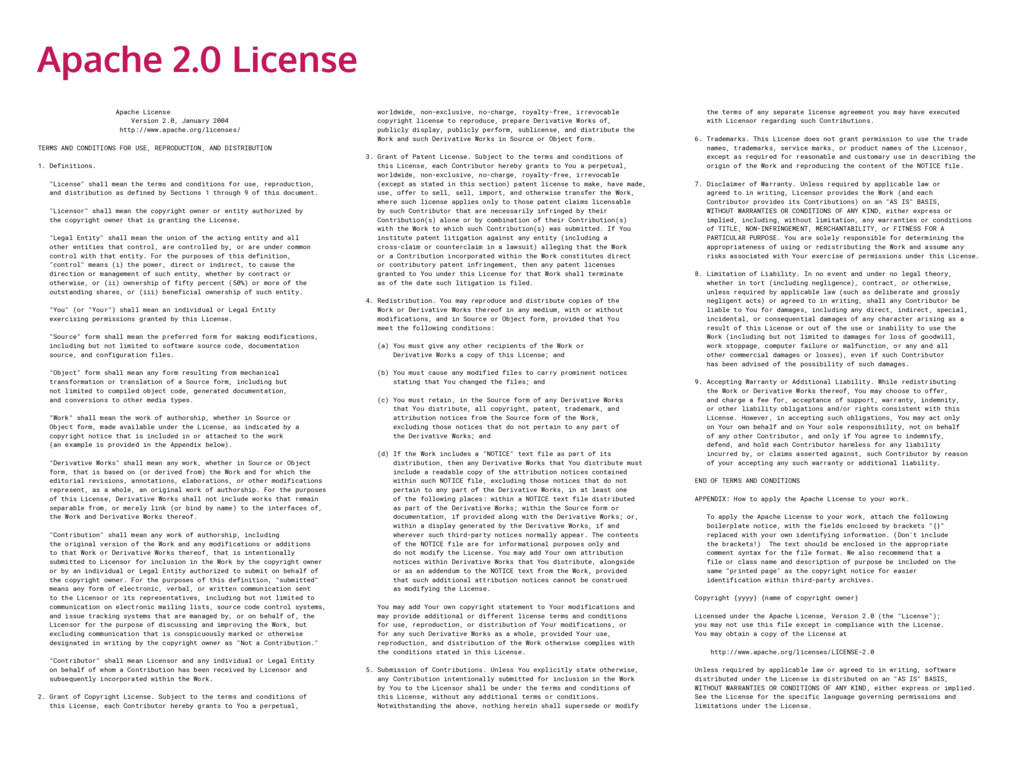 Apache License Version 2.0, January 2004 http:/...