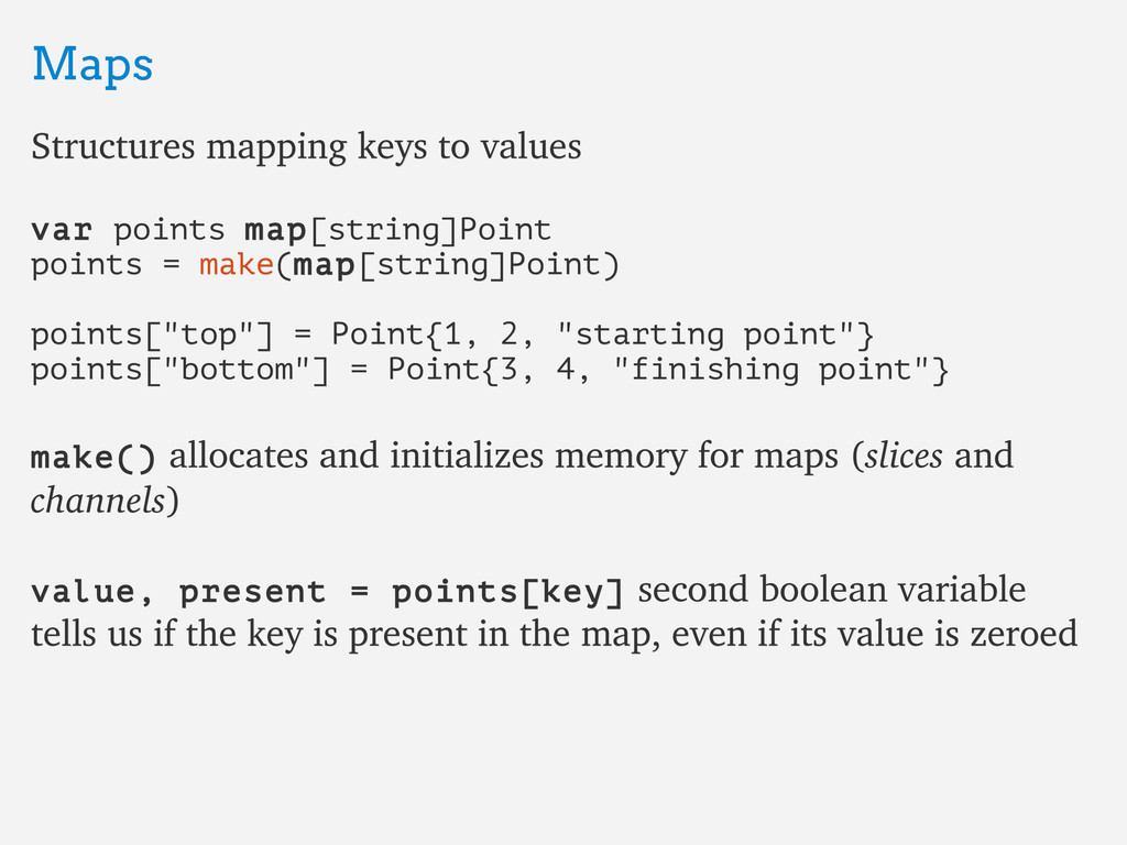 Maps Maps Structures mapping keys to values Str...
