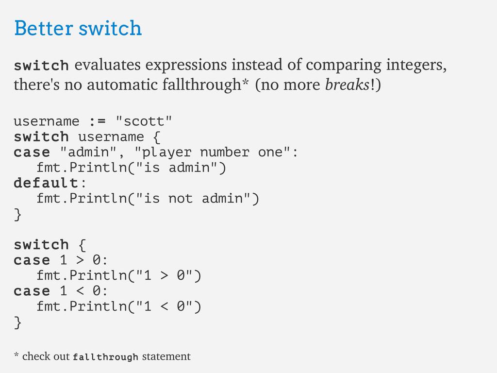 Better switch Better switch switch switch evalu...