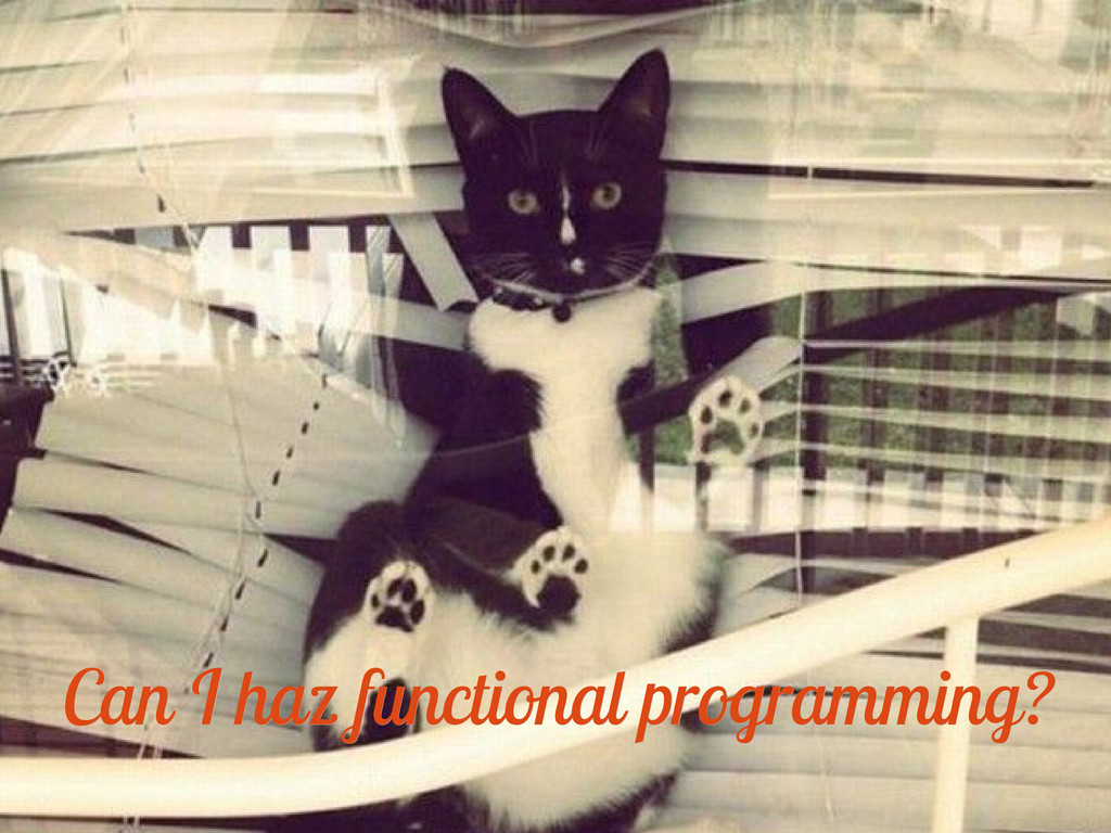 Can I haz functional programming? Can I haz fun...