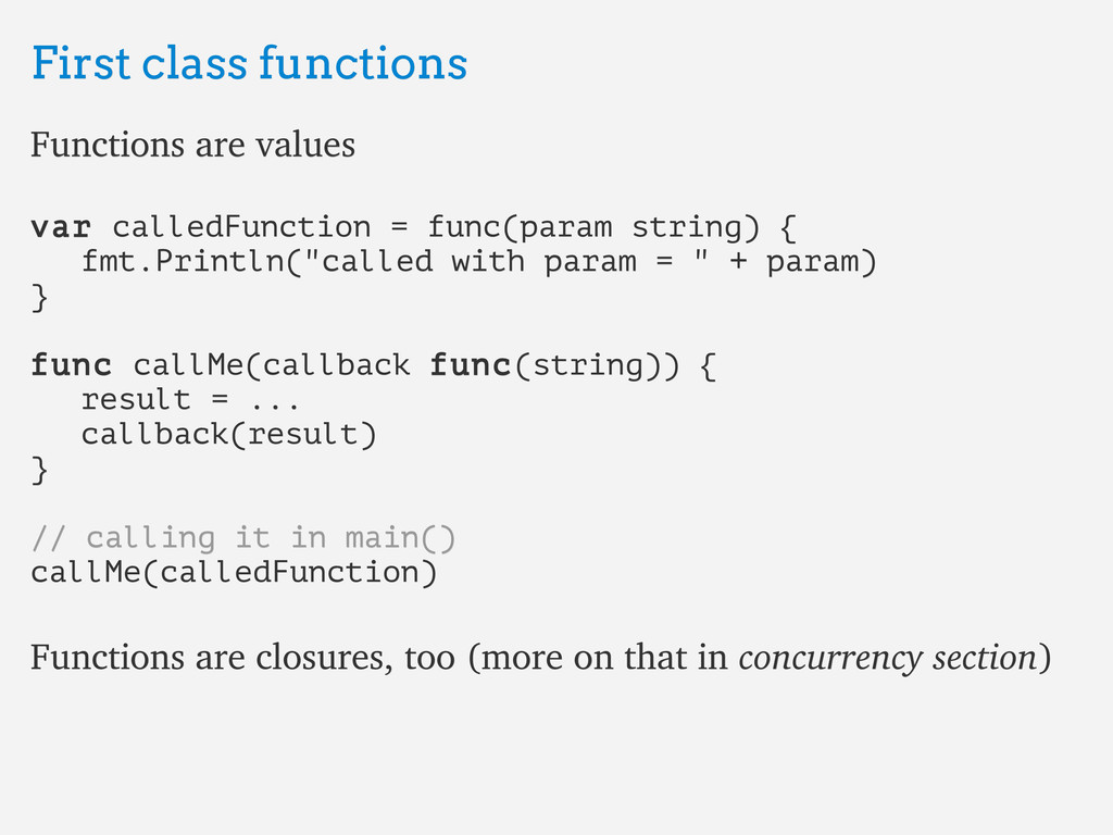 First class functions First class functions Fun...