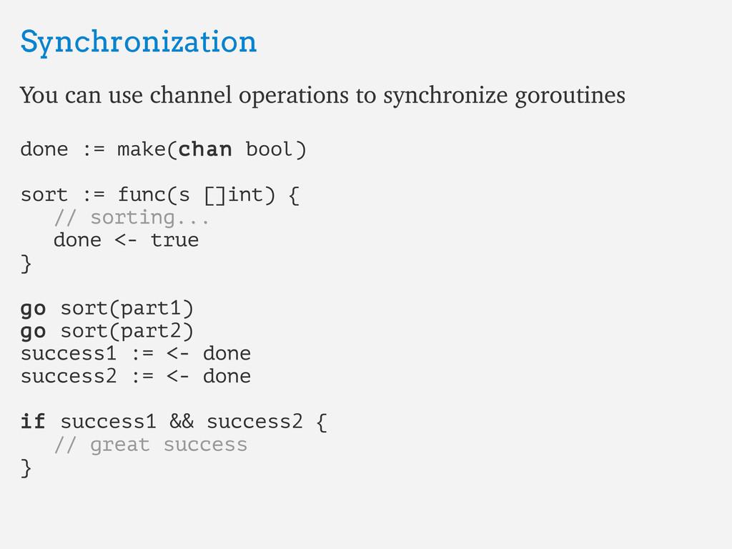 Synchronization Synchronization You can use cha...