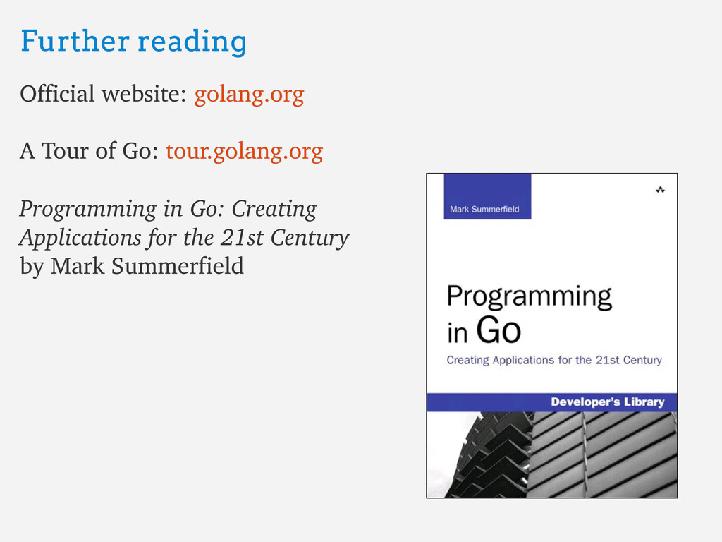 Further reading Further reading Official websit...