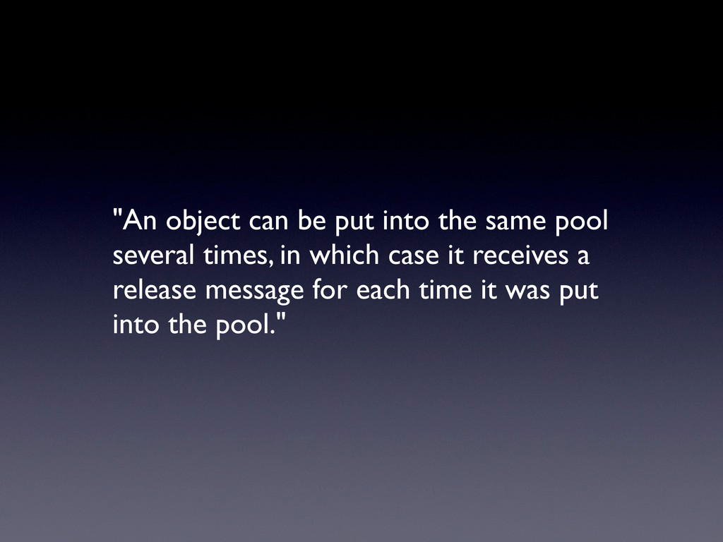 """""""An object can be put into the same pool severa..."""