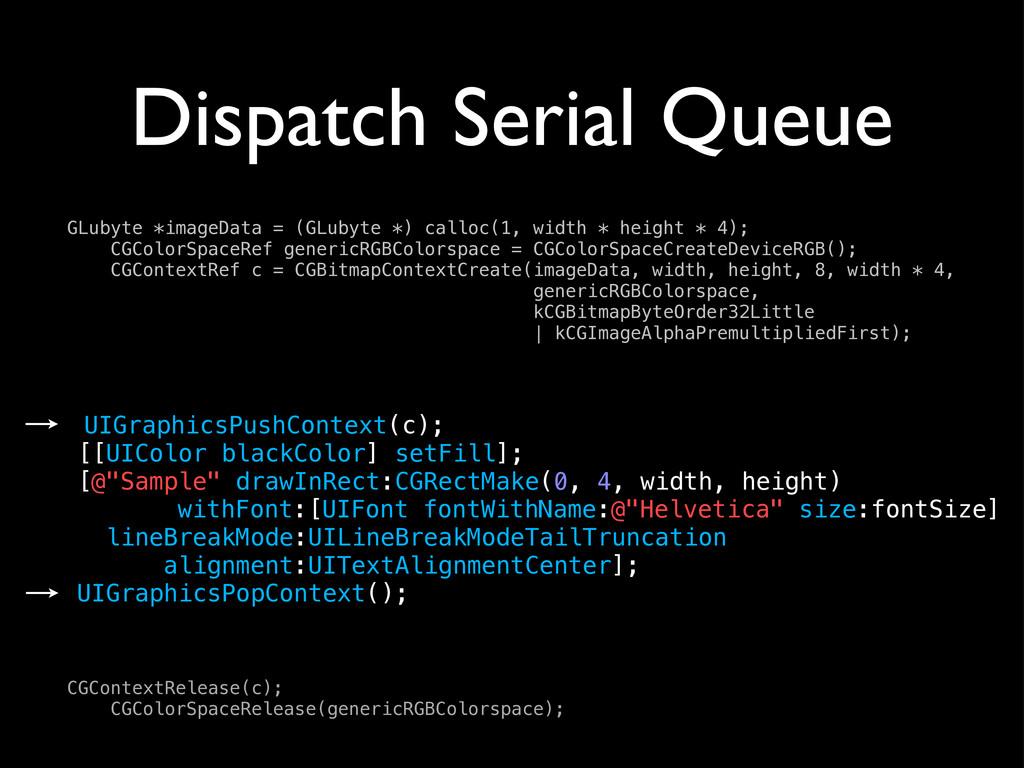 Dispatch Serial Queue UIGraphicsPushContext(c);...
