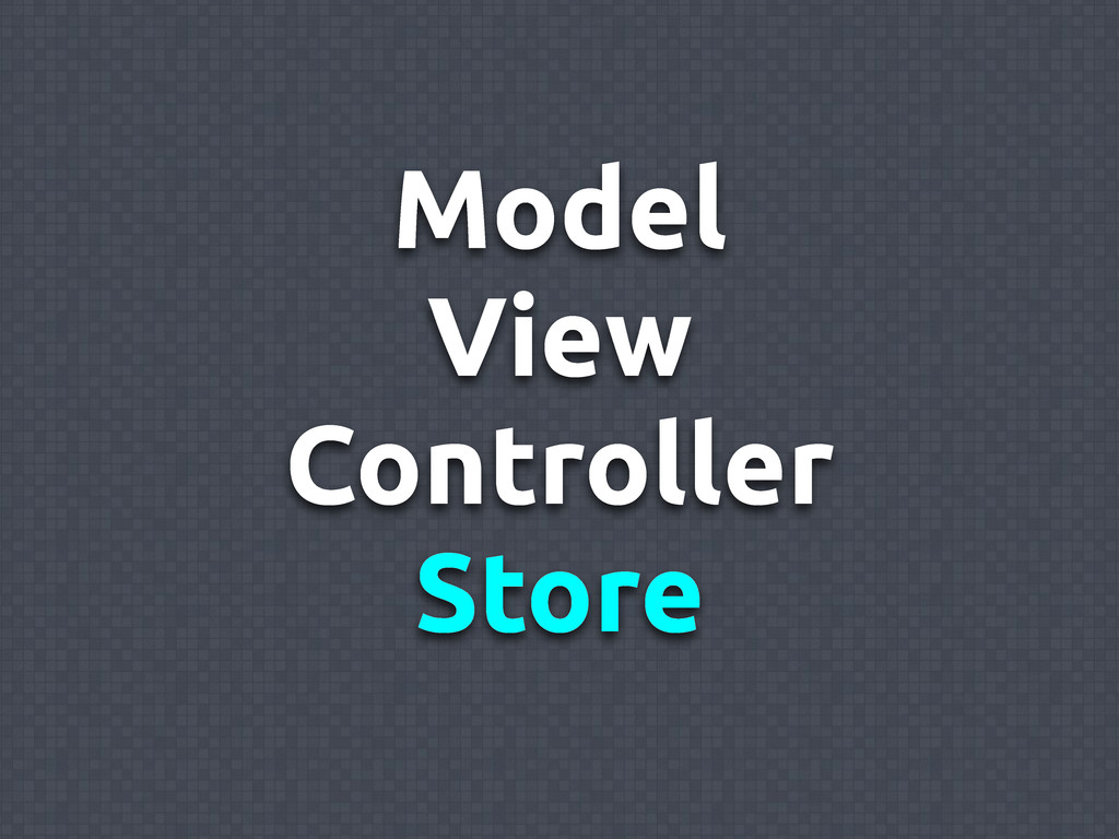 Model View Controller Store