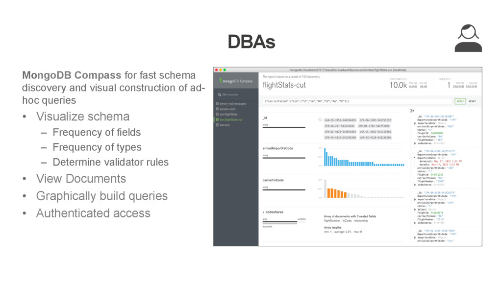 DBAs MongoDB Compass for fast schema discovery ...
