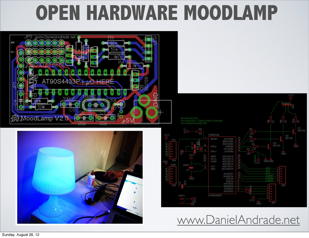 OPEN HARDWARE MOODLAMP www.DanielAndrade.net Su...
