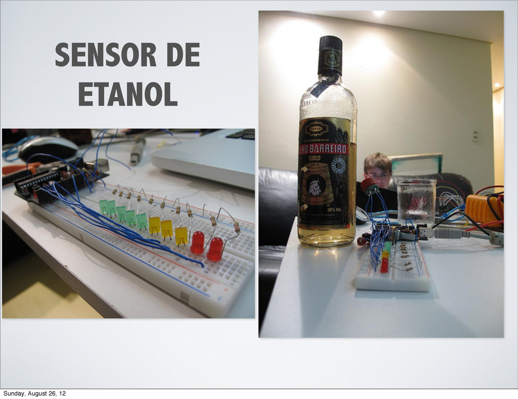 SENSOR DE ETANOL Sunday, August 26, 12