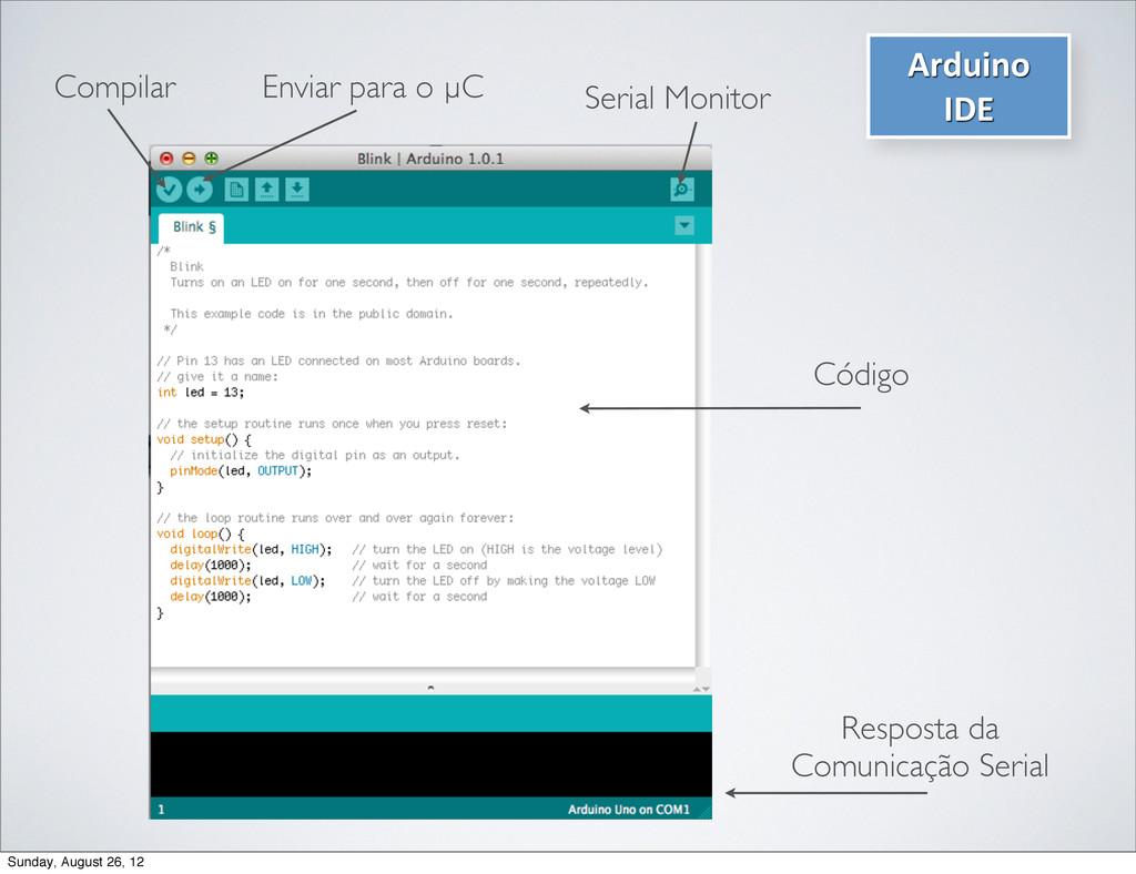 Arduino  IDE  Compilar Enviar para o µC S...