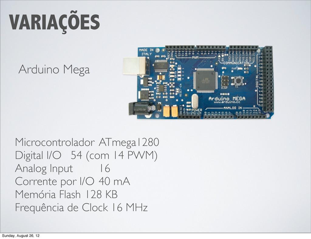 VARIAÇÕES Arduino Mega Microcontrolador ATmeg...