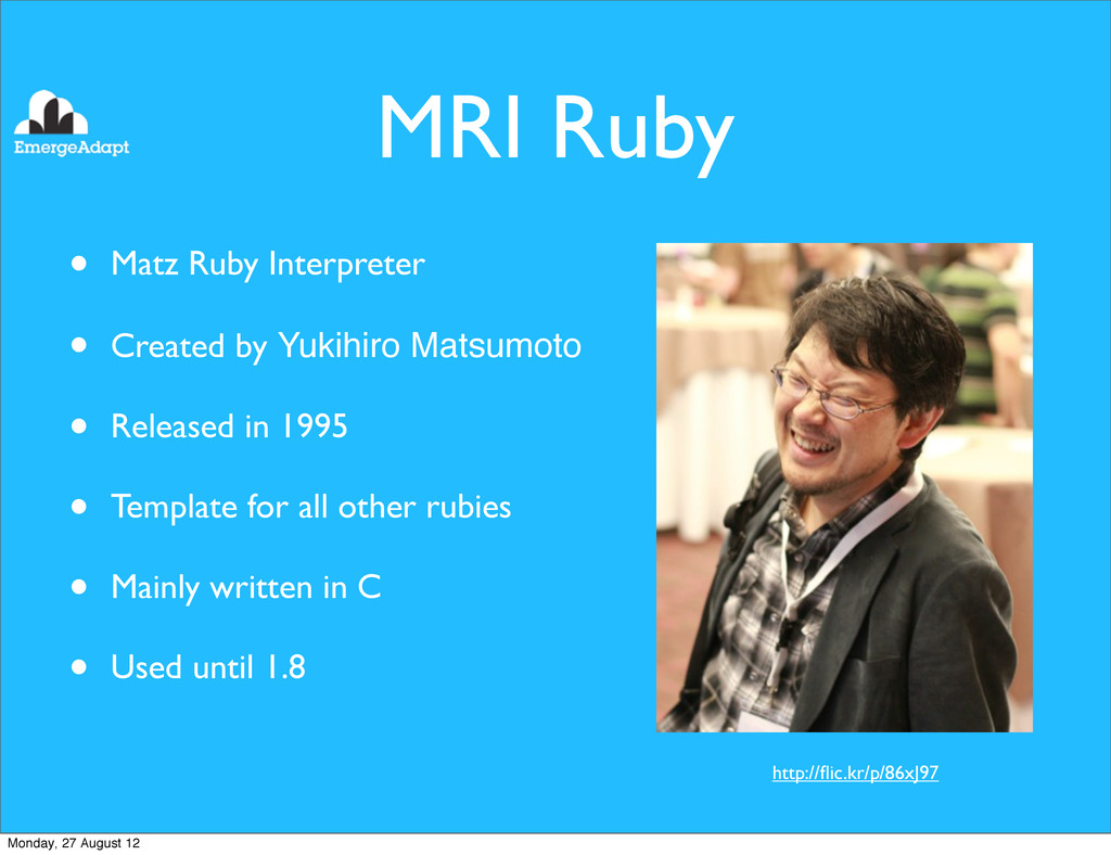 MRI Ruby • Matz Ruby Interpreter • Created by Y...