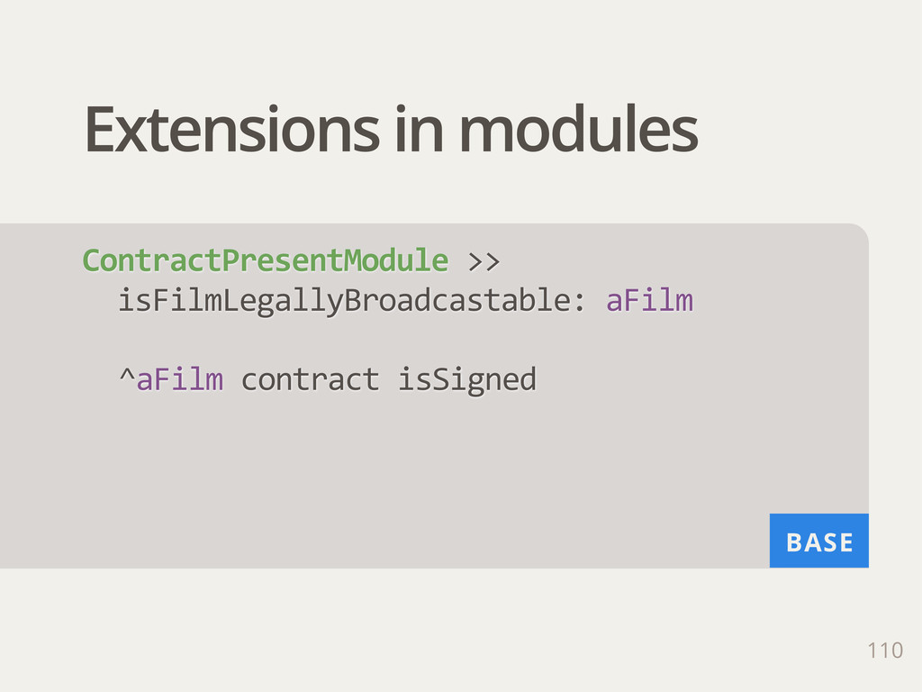 BASE Extensions in modules 110 ContractPresentM...