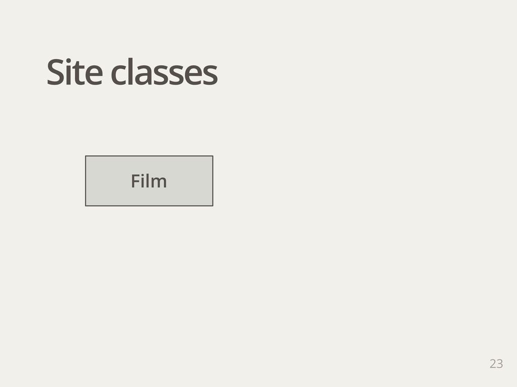 Site classes 23 Film